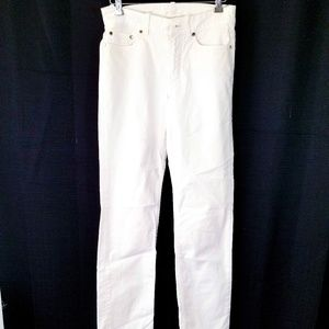 Loro Piana white straight legs Jean made in Italy